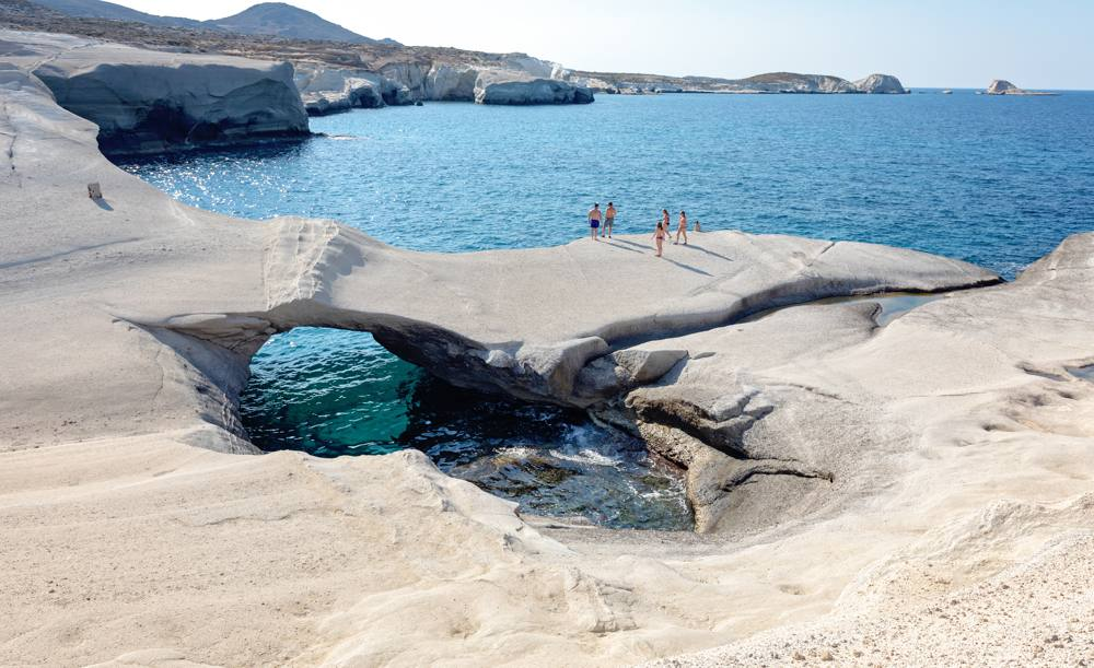 La côte exceptionnelle de Milos