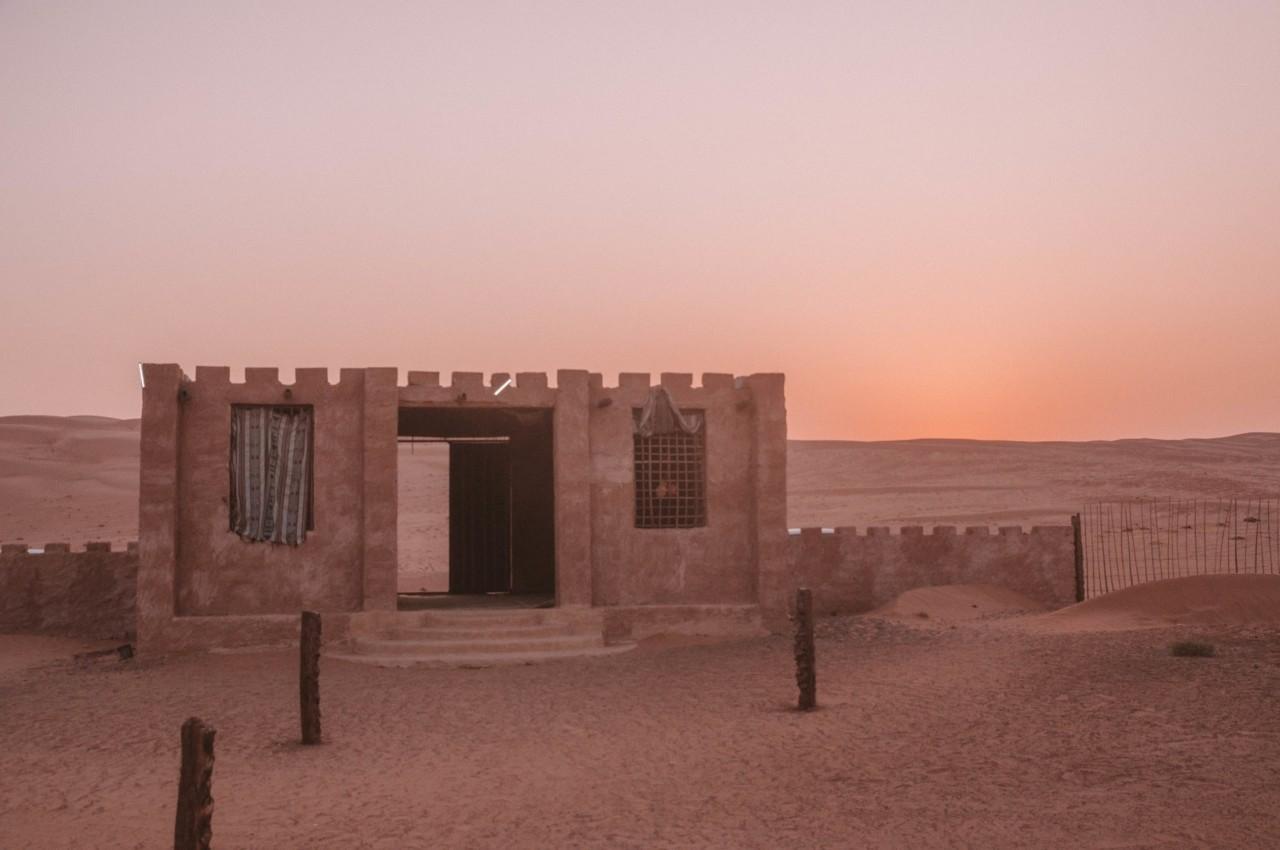 Un camp bédouin dans les Wahiba Sands à Oman