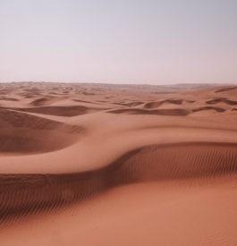 Désert de sable Wahiba à Oman