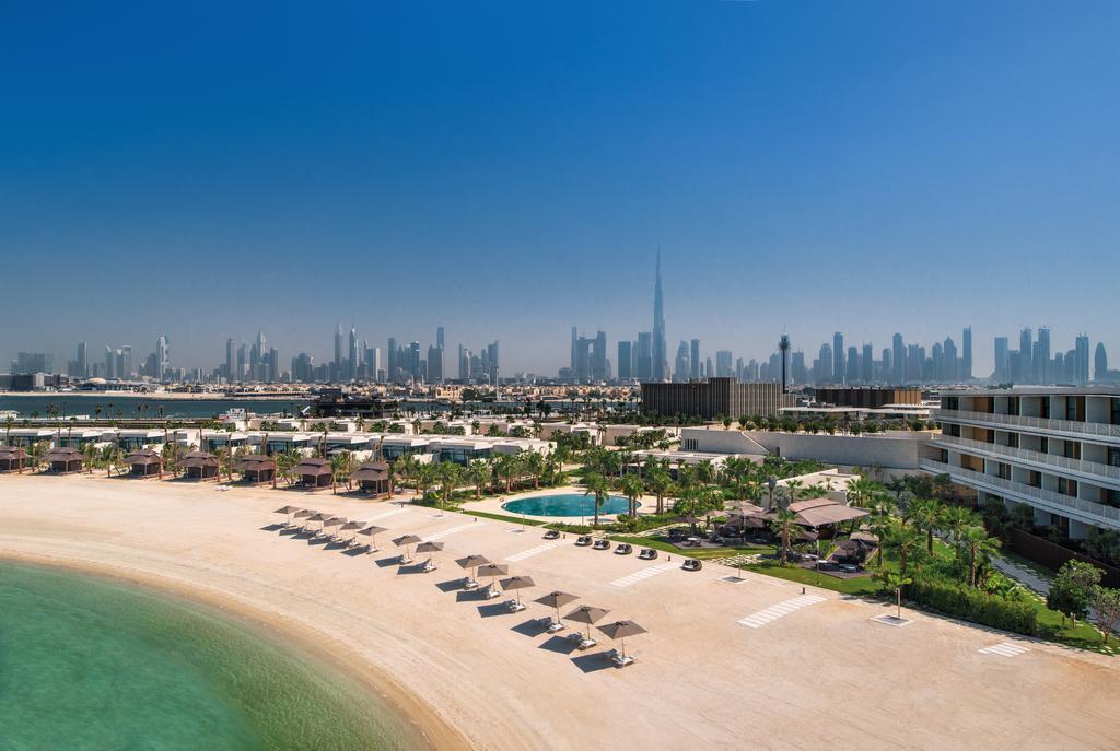La plage privée du Bulgari Hôtel à Dubaï