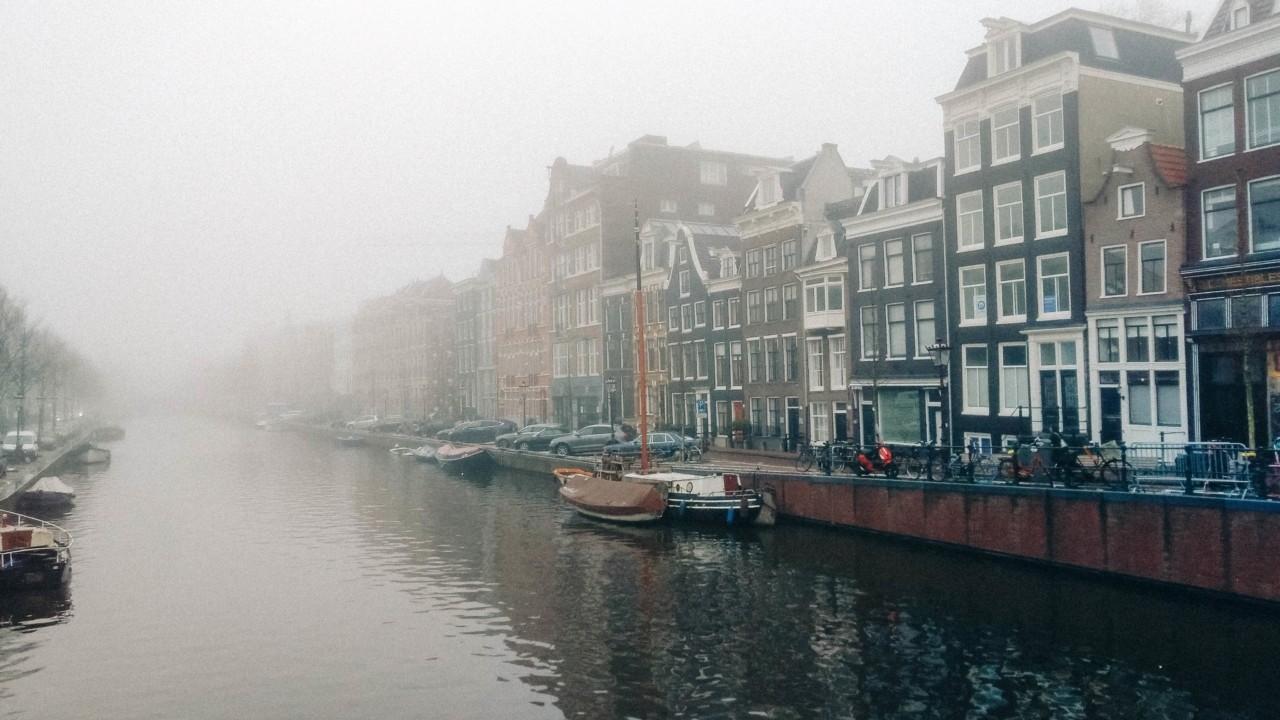 Grand Canal à Amsterdam