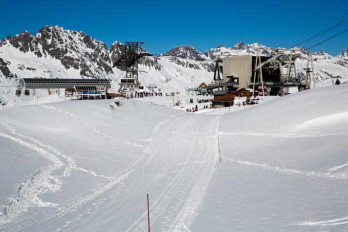 Piste de ski en Oisans à Vaujany