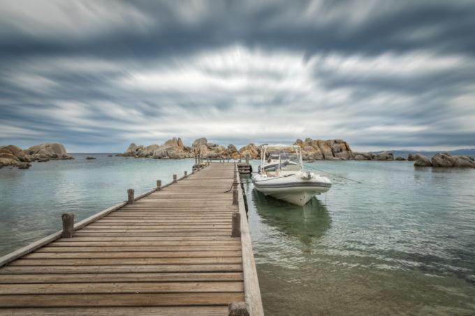 Sur le ponton avant de partir en mer