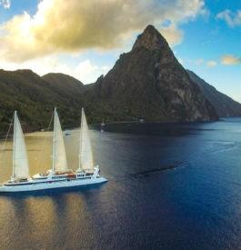 Dans les Caraïbes, bateau Ponant à Sainte Lucie CP= @freeway-production.jpg