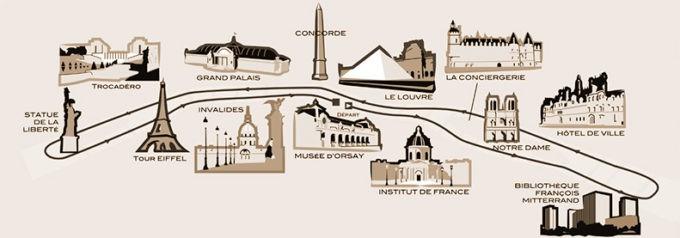Itinéraire du parcours dans la ville DP : La Marina Paris