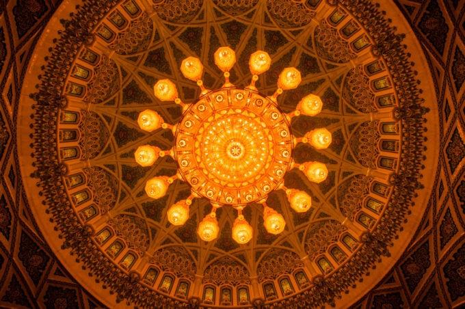 Le lustre de cette mosquée