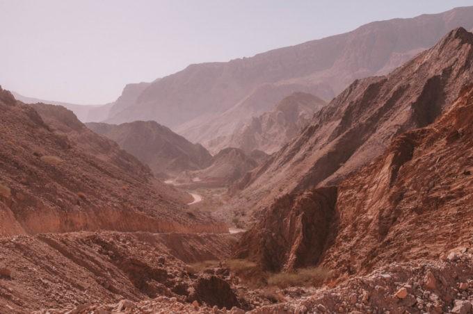 Paysage grandiose vers le wadi Tiwi