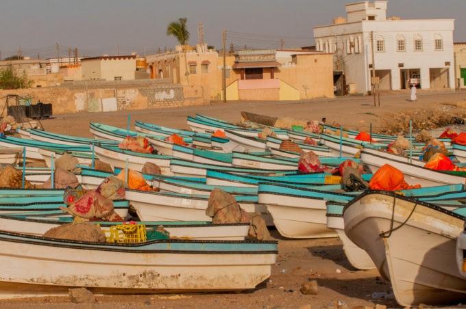 Les bateaux de pêche à Sur