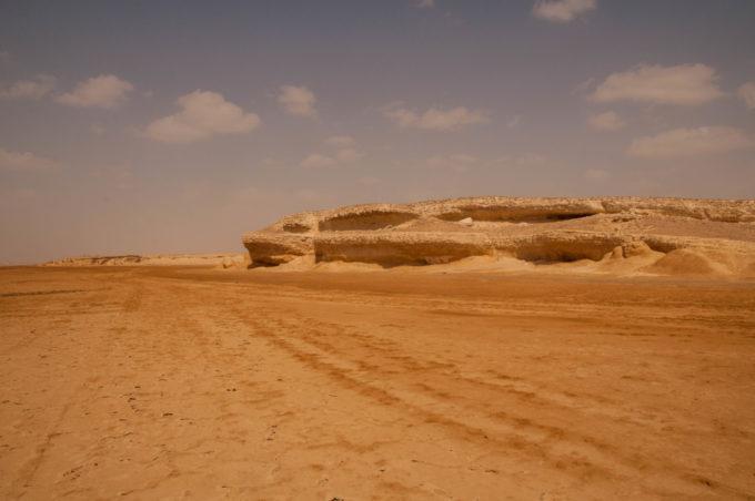 Le désert de sable blanc d'Oman