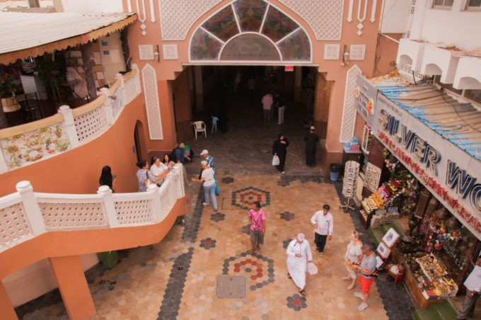 L'entrée du souk à Mascate à Oman