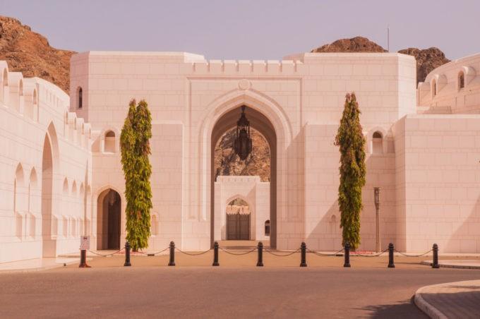 Le palais royal à Mascate
