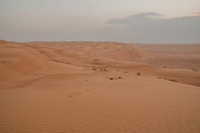 Les dunes de sables de Wahiba Sands à Oman