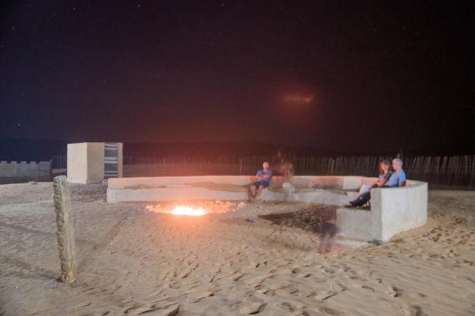 Soirée autour du feu de camp