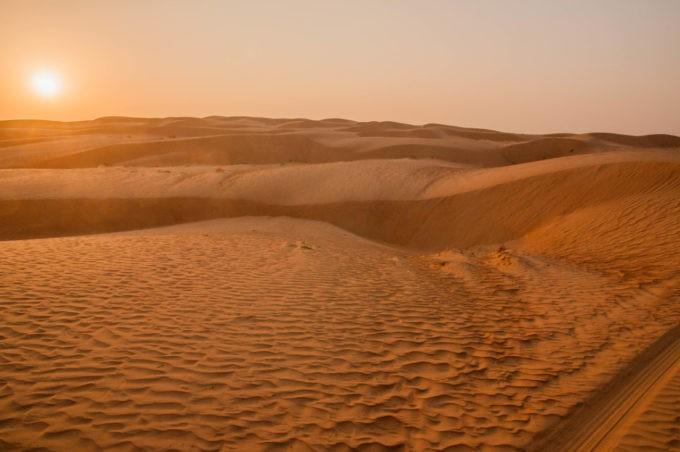 Paysages envoûtants dans les dunes de sable