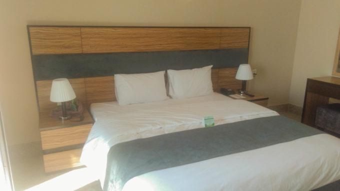 Dans la chambre de notre hôtel même si les extérieurs sont bien plus captivants