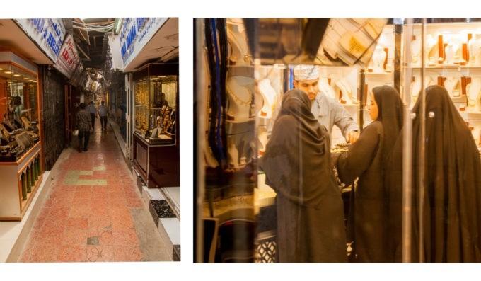 Dans le souk de #Mascate, les femmes à la bijouterie