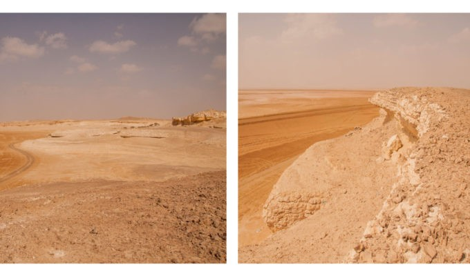 Grimper sur les dunes de sel