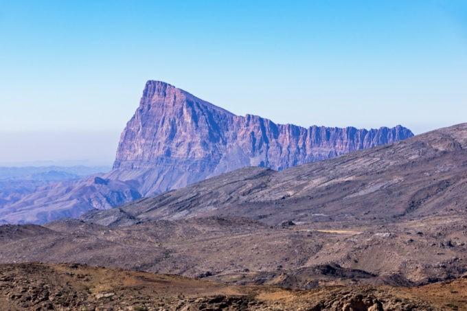 Le paysage grandiose de Jebel Shams à Oman
