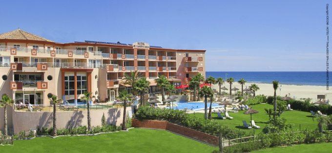 L'hôtel les flamants rose à Canet en Roussillon