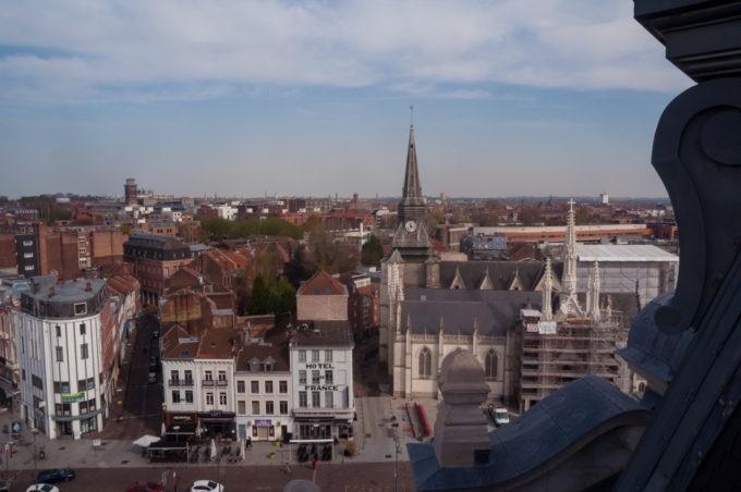 Vue imprenable en haut de la mairie de Roubaix !