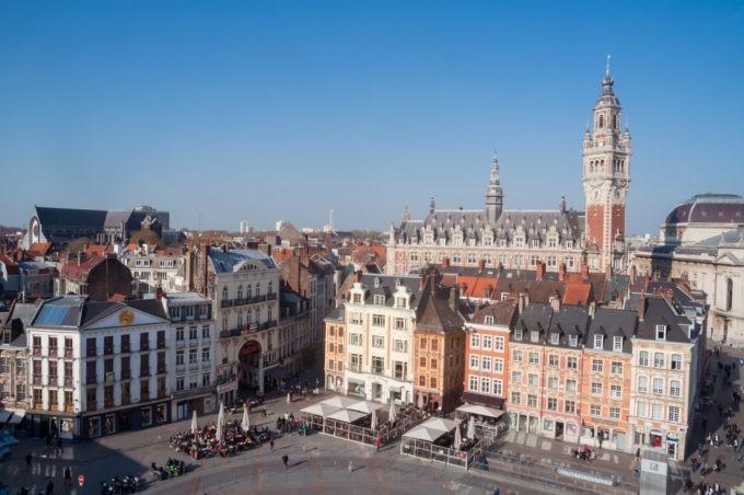 Le Vieux Lille de haut depuis l'hôtel Bellevue