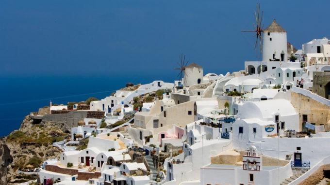 le village authentique de Santorin dans les Cyclades