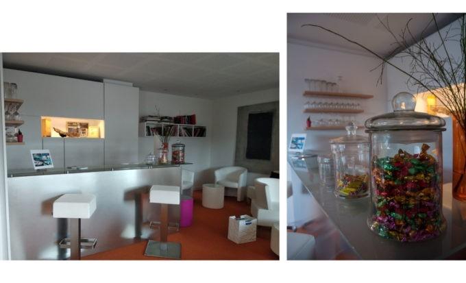 Le bar du Café offre un bel espace aéré au Grand Hôtel du Golfe