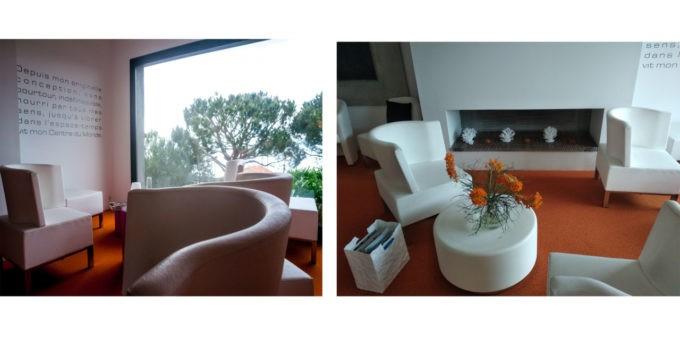 L'espace café et détente. Idéal pour bouquiner au calme