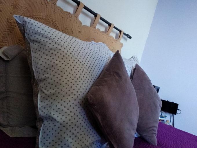Des oreillers gonflés et moelleux