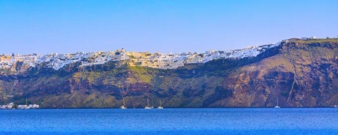 La côte de Santorin