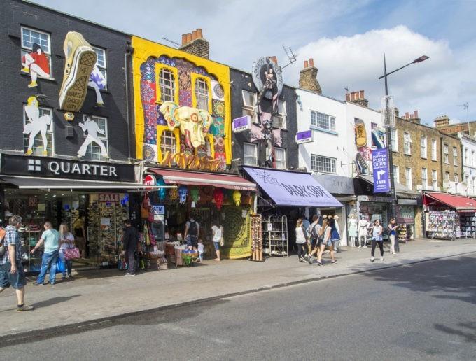 La rue principale de Camden Town