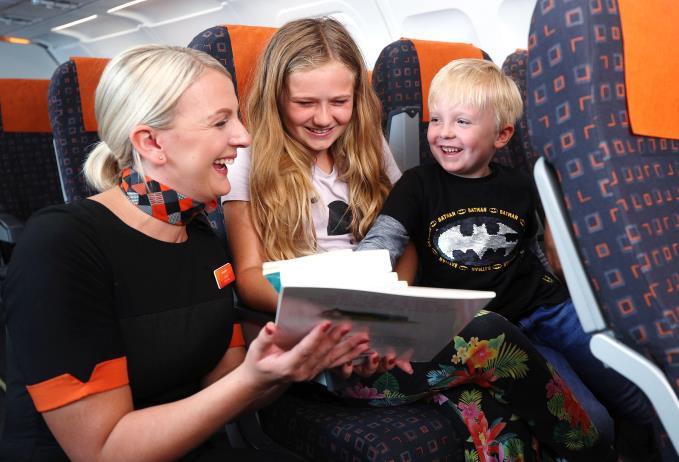 Le personnel naviguant sera particulièrement réceptif aux envies des enfants concernant la Flybrary