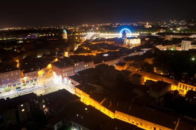 Photographier Toulouse de nuit