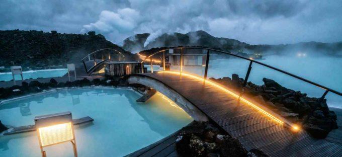 Les infrastructures du Blue Lagoon en Islande