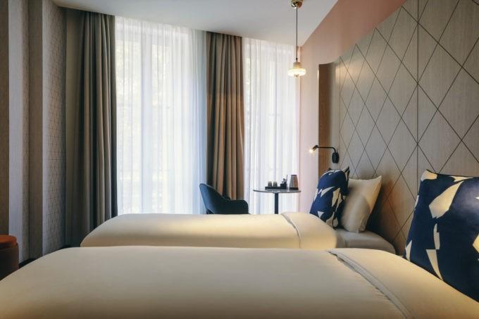 La chambre twin de l'hôtel Greet