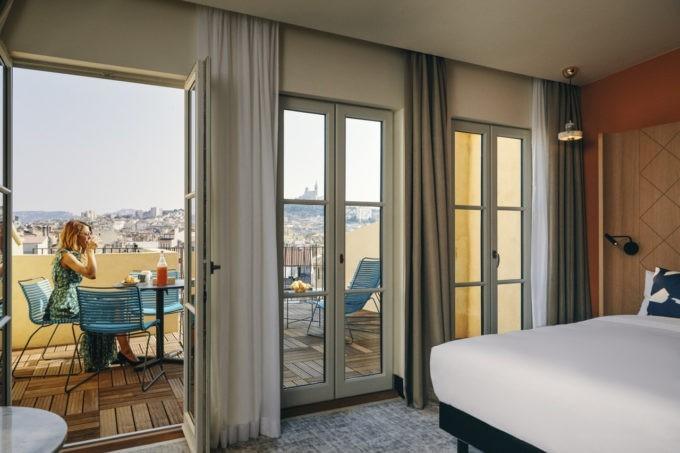 La chambre privilège avec terrasse à Marseille