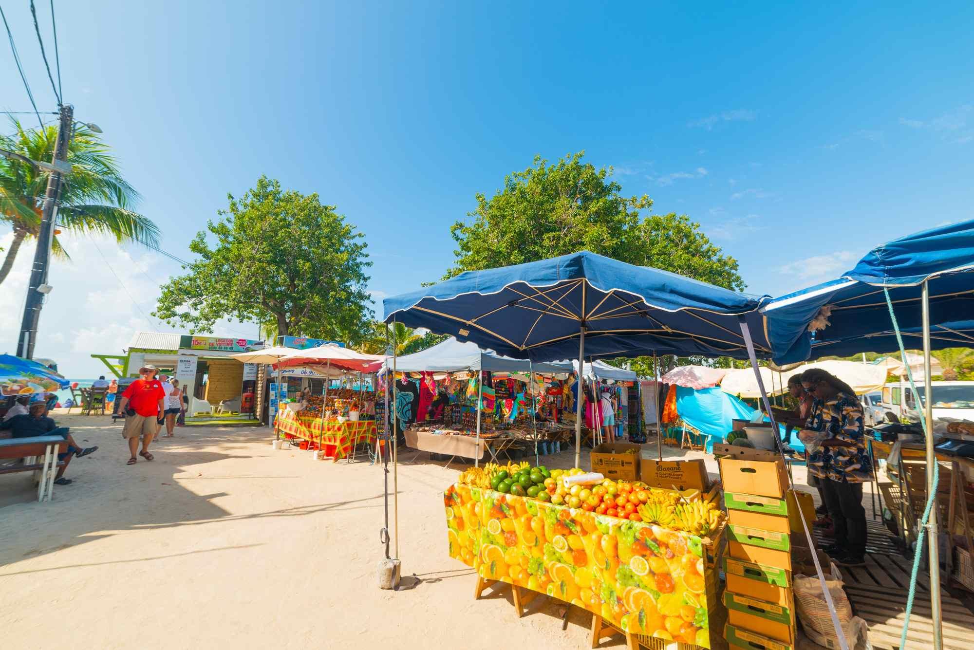 Un marché en Guadeloupe