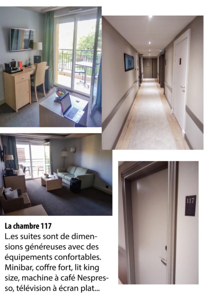La chambre 117 de l'hôtel & Spa de Fontcaude