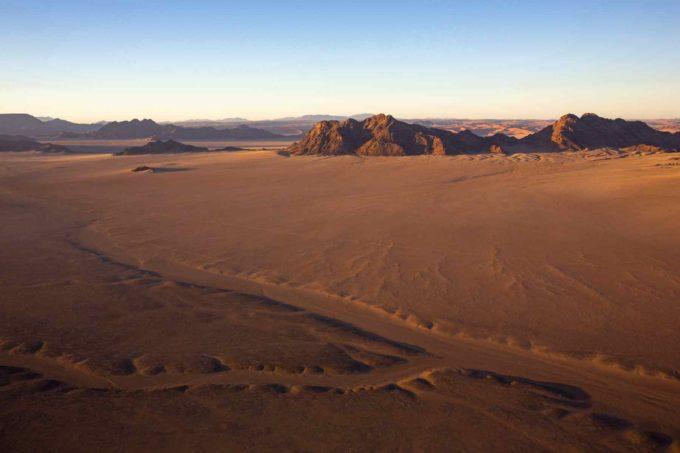 Les grands espaces de la Namibie