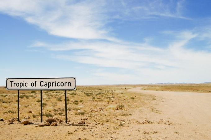 Le tropique du Capricorne en Namibie
