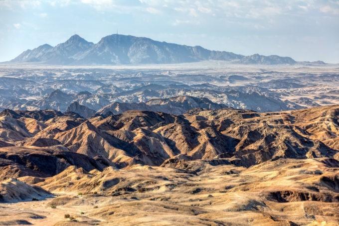 Le désert de la lune le Moon désert en Namibie