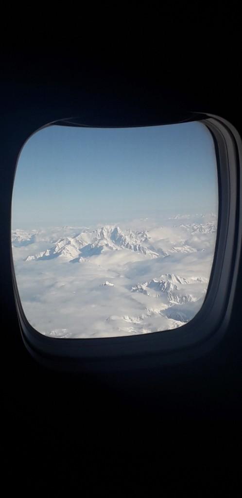 Le Mont Blanc vu depuis le ciel