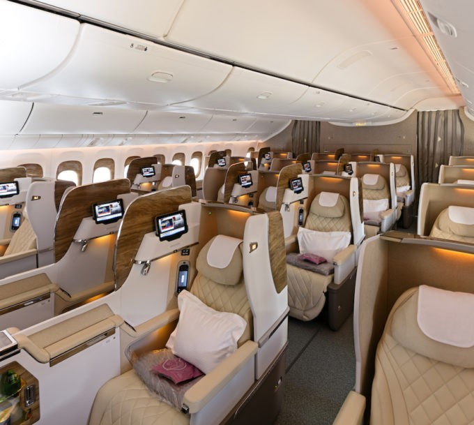 La cabine en Business Class chez Emirates