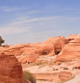 Dans la cité de Pétra en Jordanie