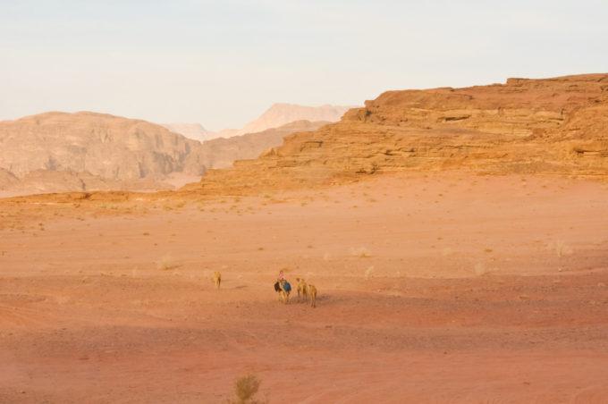 Le Wadi-run, le désert de la Jordanie