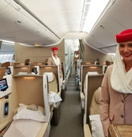 Business Class pour un vol avec Emirates Airlines