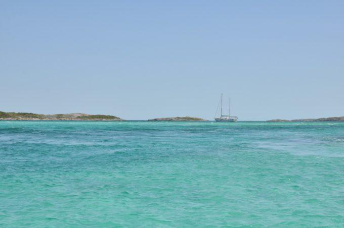 Dans les lagons de Nassau aux Bahamas