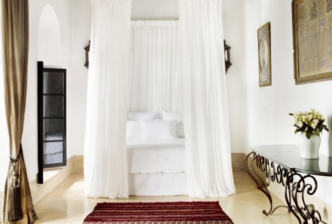 La chambre principale à l'hôtel Marrakech