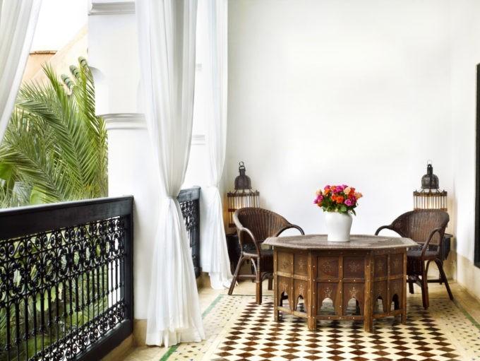Un coin pour se détendre à l'hôtel Marrakech