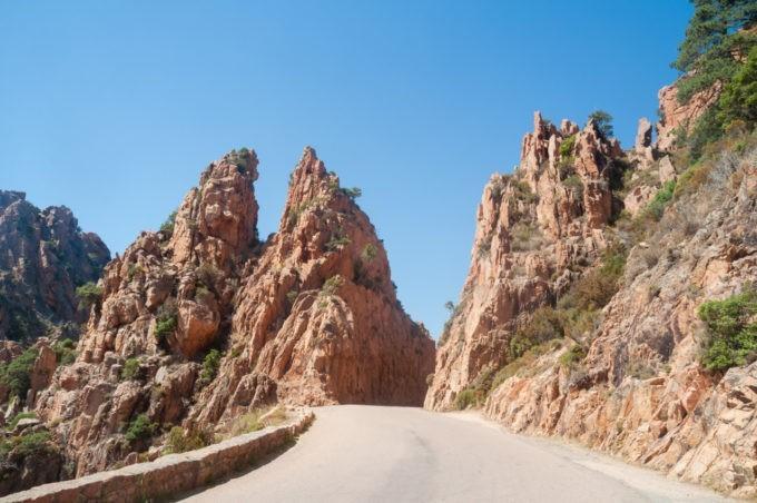 La route d'Ajaccio à Piana